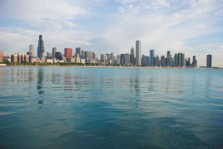 Chicago cityscape photo, landscape photo