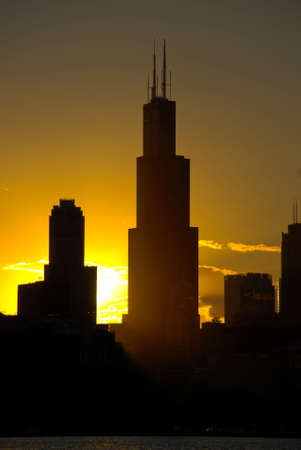 the sears tower: Sears Tower, Chicago sunset photo