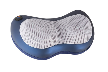 vibration: Isolated electric massage pillow with vibration and heating Stock Photo