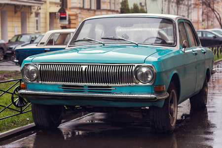 russian car: Photo of a russian car Volga on the street