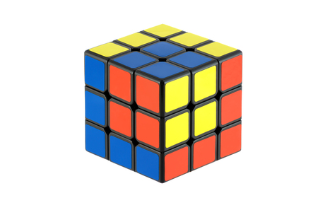 Isolated classic Rubik's Cubes, unusual pattern