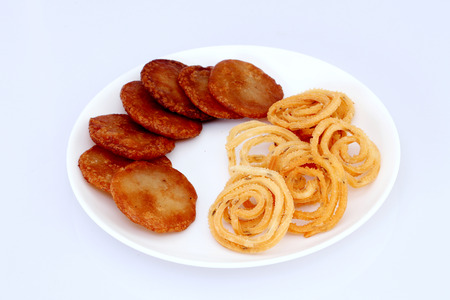 Traditional Indian snacks photo