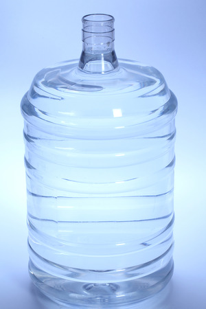 purified: Large bottle of purified drinking water on white
