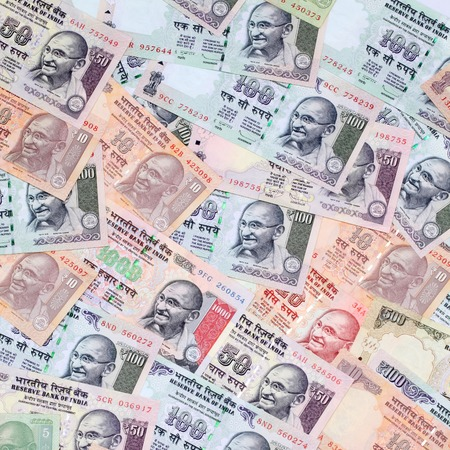 mahatma: Background created with Indian currency