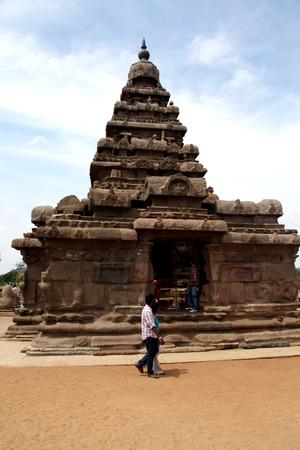 mamallapuram: Seashore Temple, Mamallapuram, Chennai, India Stock Photo