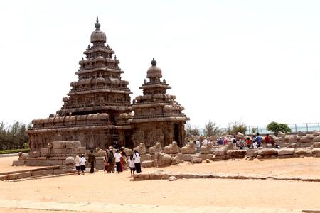 mahabalipuram: Seashore Temple, Mamallapuram, Chennai, India Stock Photo