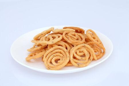 Traditional indian snack murukulu photo