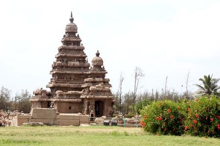 mamallapuram: Seashore Temple,Mamallapuram, Chennai, India Stock Photo
