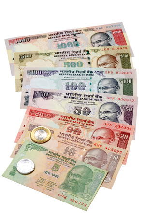 Indian currency notes and coins  photo