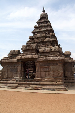 pallava: One of the ancient architectural wonders of the Pallava kings in south India  Stock Photo