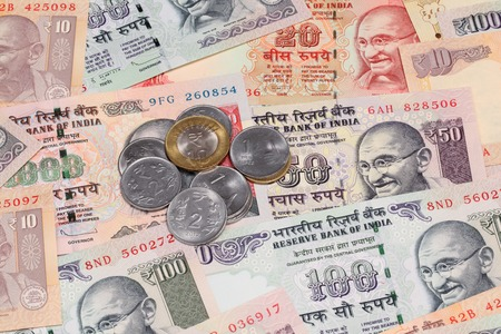 fiscal cliff: Indian rupee notes and coins