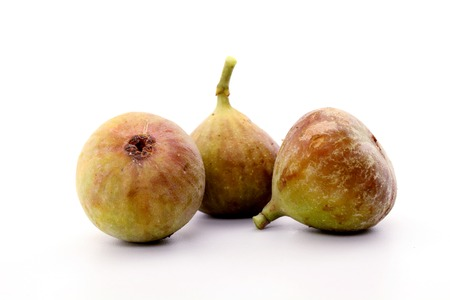 fico: Fresh ripe figs isolated on white background