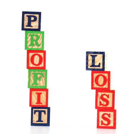 Profit & Loss words made by letter blocks photo