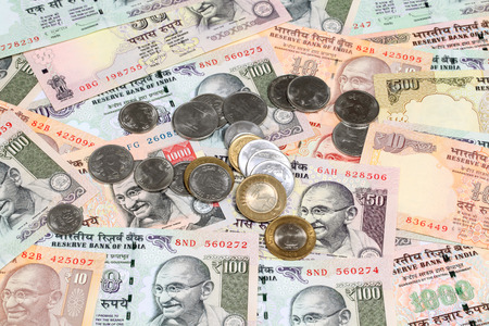 Indian currency and coins photo