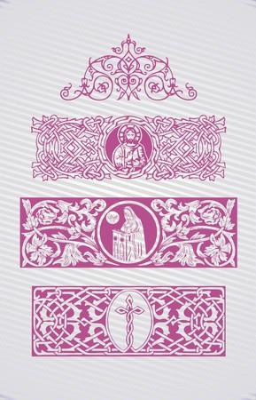 キリスト教シンボルベクトルデザイン要素のコレクション