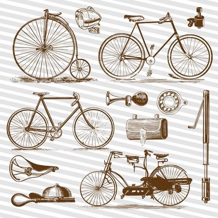 自転車とアクセサリー ヴィンテージセット