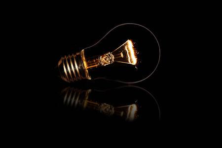 reflaction: Bulb light reflaction Stock Photo