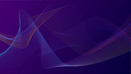 Vector textured background with wave effects. Suitable for posters, websites, presentations on the topics of medicine, neurosience, physics and other sience, future technologies and for IT companys.  イラスト・ベクター素材