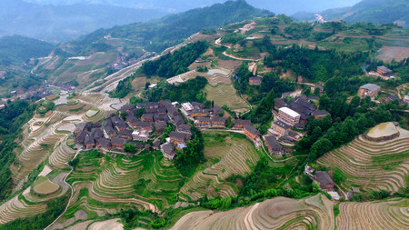 seclusion: Longji terrace aerial view