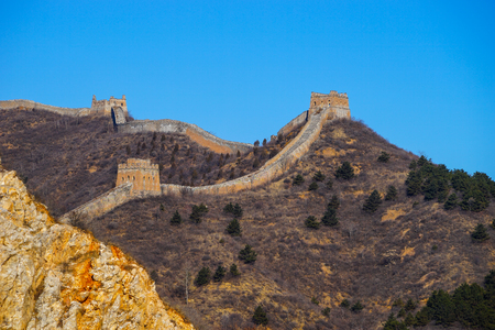 simatai: Beijing Simatai Great Wall Stock Photo