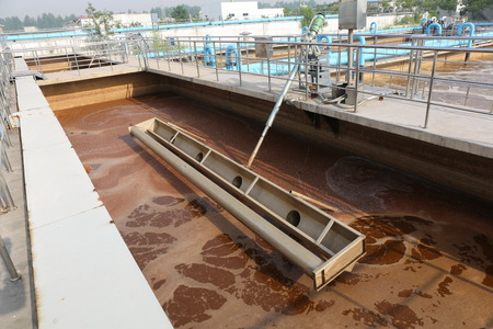 sludge: Part of a waste water treatment scene Stock Photo