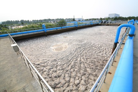excremental: Part of a waste water treatment scene Stock Photo