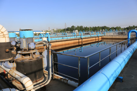 Part of the sewage treatment plant scene