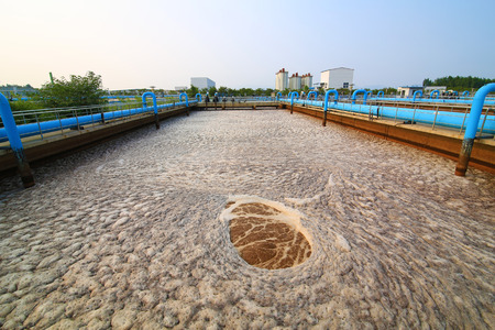 sewage treatment plant: Part of the sewage treatment plant scene