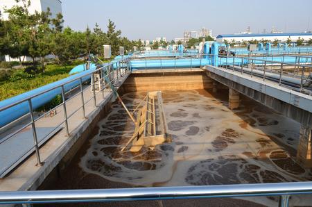 Part of the sewage treatment plant scene