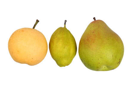 three different ripe pears photo