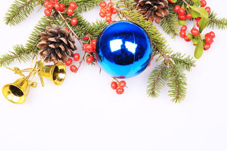 Christmas fir tree with decoration photo