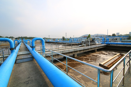chemically: Part of a waste water treatment scene Stock Photo