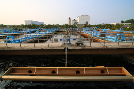 greywater: Part of a waste water treatment scene Stock Photo