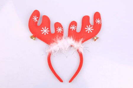 headband: Funny Santa reindeer headband