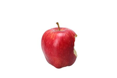 Red bitten apple, isolated on white Reklamní fotografie