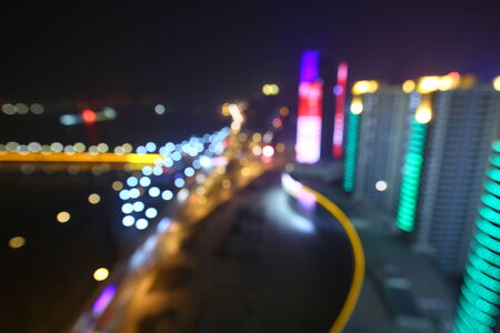christmas paste: Blurred abstract background lights, beautiful cityscape view.