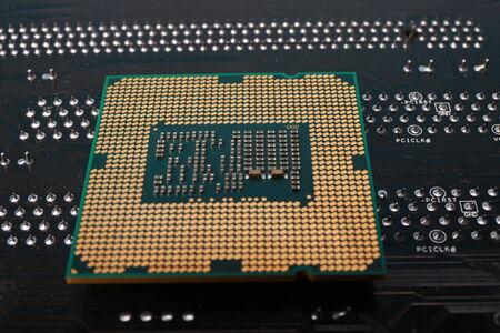 computer cpu: close up of Personal Computer CPU chip