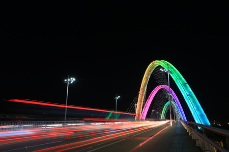 headlights: Bridge at night headlights track