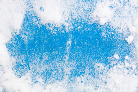inducement: Frozen wooden in snow surface of Christmas background