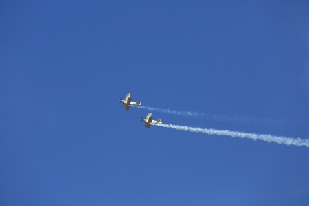 aerobatic: Aerobatic airplane flying display and aerobatic show Editorial