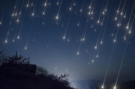 Lluvia de meteoros Foto de archivo