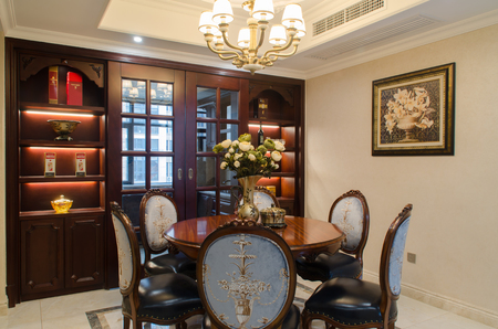 European style dining room