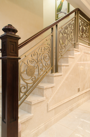 Staircase handrail in the house