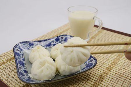 soymilk: Traditional cuisine dumplings and soy milk
