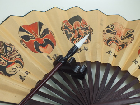 paper fan: Chinese paper fan brush