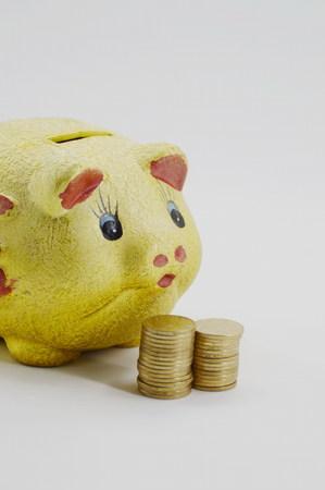 horizontal format horizontal: Coin piggy bank cans