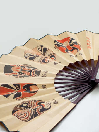 paper fan: Chinese paper fan with prints