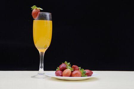 fruitage: Strawberry and fruit juice Stock Photo