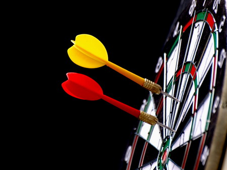 darts flying: Darts  Stock Photo