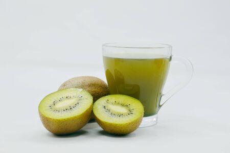 fruitage: Kiwi fruit juice Stock Photo